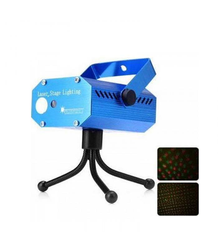 Φωτορυθμικό Laser YX-09 Μίνι κόκκινο & πράσινο ολογραφικό προβολέα λέιζερ 100 / 50mW Χριστουγεννιάτικος & πάρτι διακοσμητικός φωτισμός