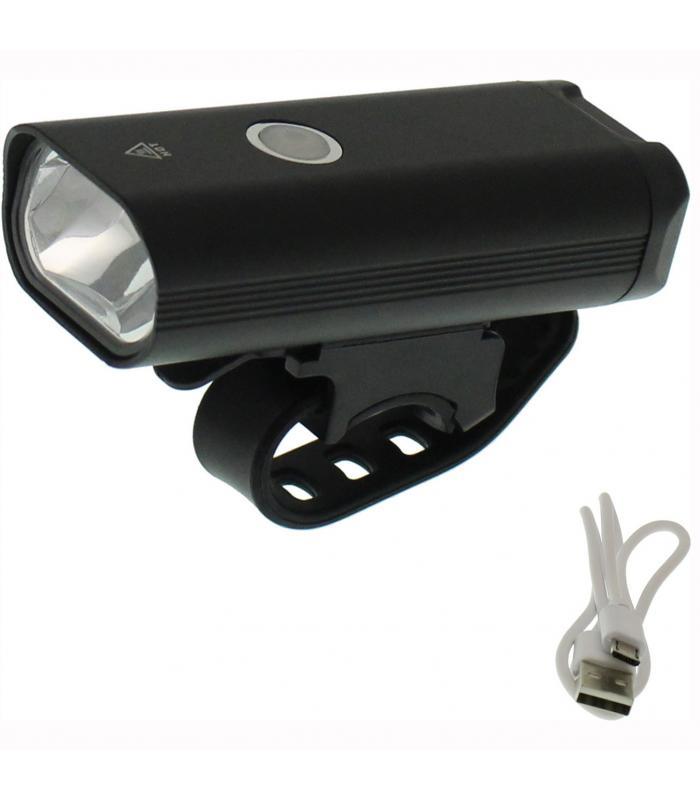 Επαναφορτιζόμενος Φακός LED Ποδηλάτου USB 400LM IPX6 μαύρος STVZO OEM