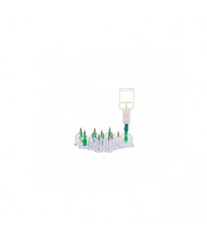 ΘΕΡΑΠΕΥΤΙΚΗ ΣΥΣΚΕΥΗ ΜΕ ΒΕΝΤΟΥΖΕΣ 12 ΤΕΜΑΧΙΩΝ - VACUUM CUPPING SET THERAPY